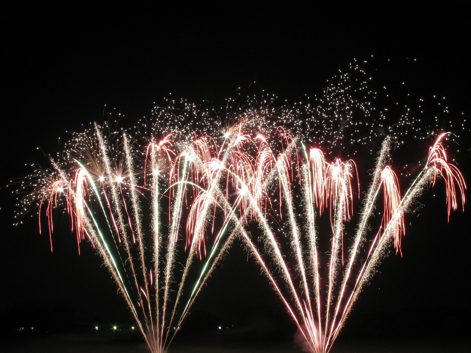 free firework presentation stock photo