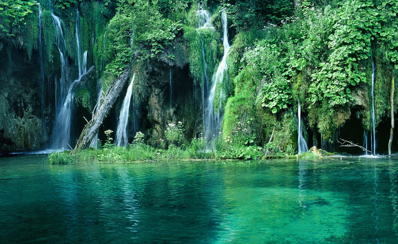 waterfalls in paradise