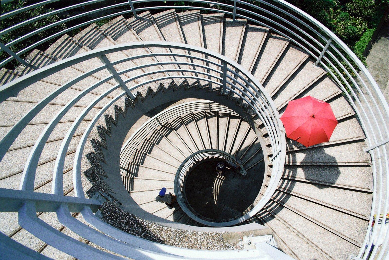 Free Spiral Staircase, Hong Kong Stock Photo