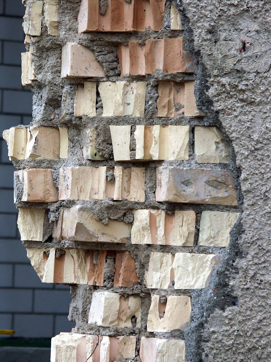 Free Crumbling Brick Wall Stock Photo Freeimages Com