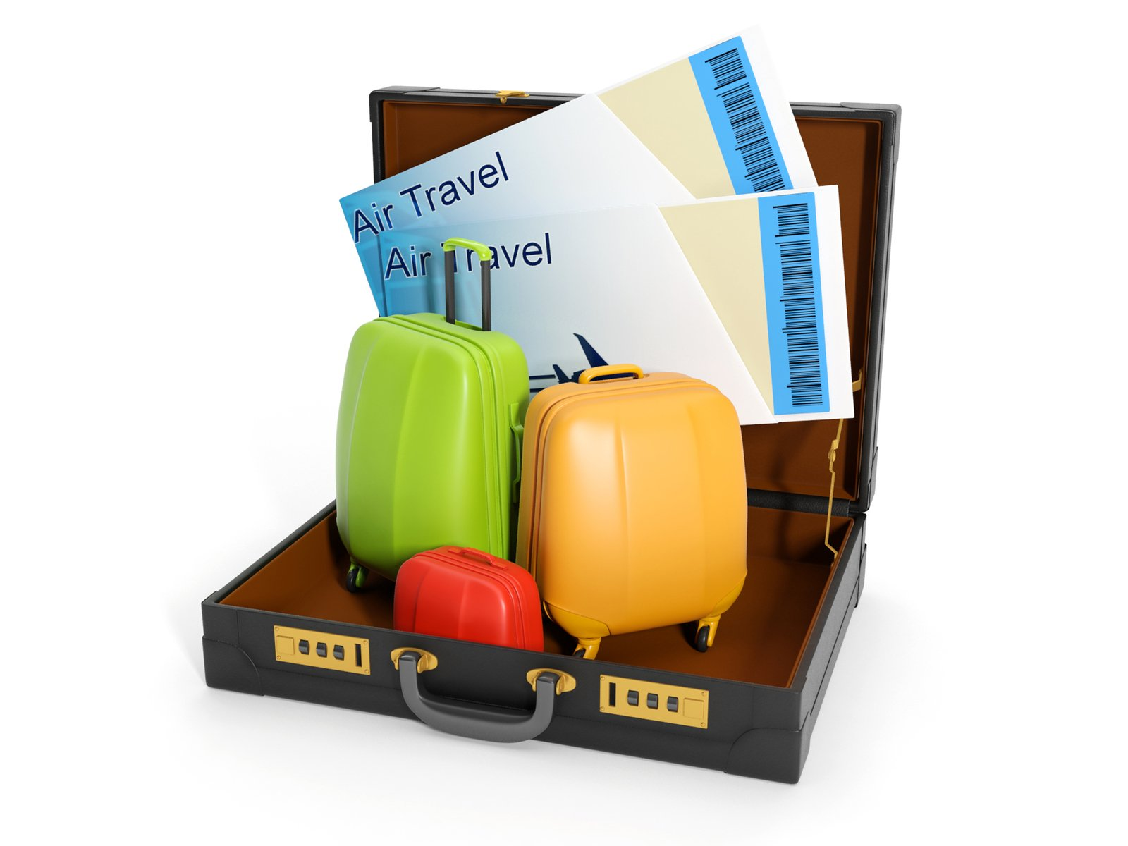 Free 3d illustration: travel agent trips Stock Photo