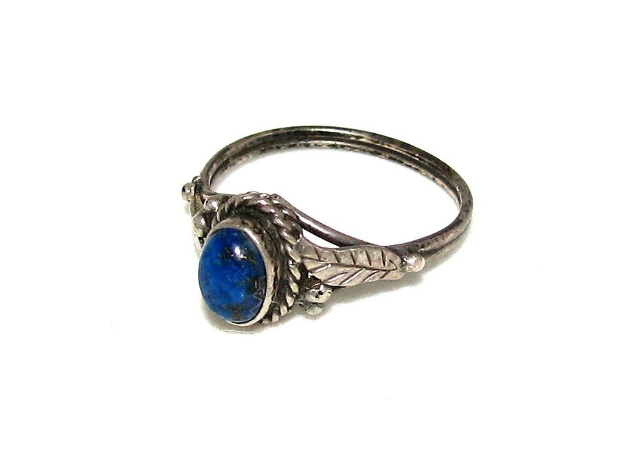 Free silver lapis ring stock photo Silver ring tarnished in swimming pool