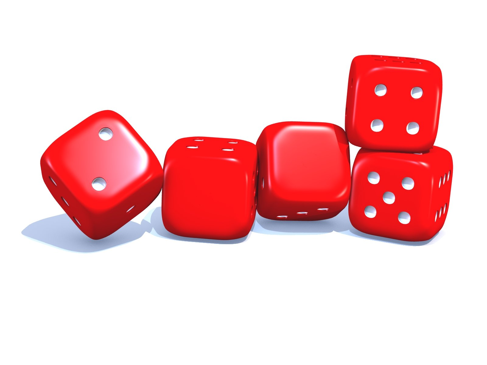 Dice 2009 red