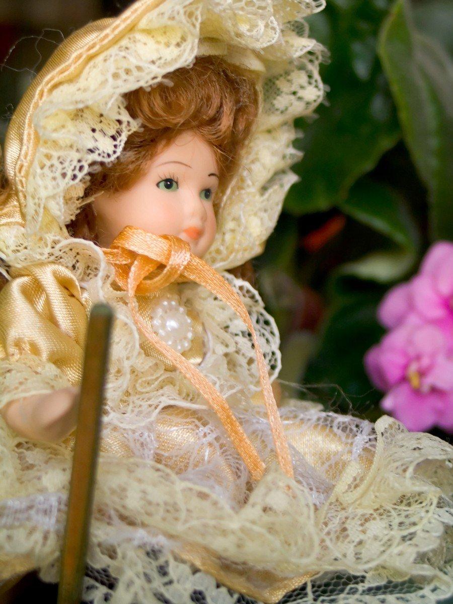 Как сделать волосы кукле папье