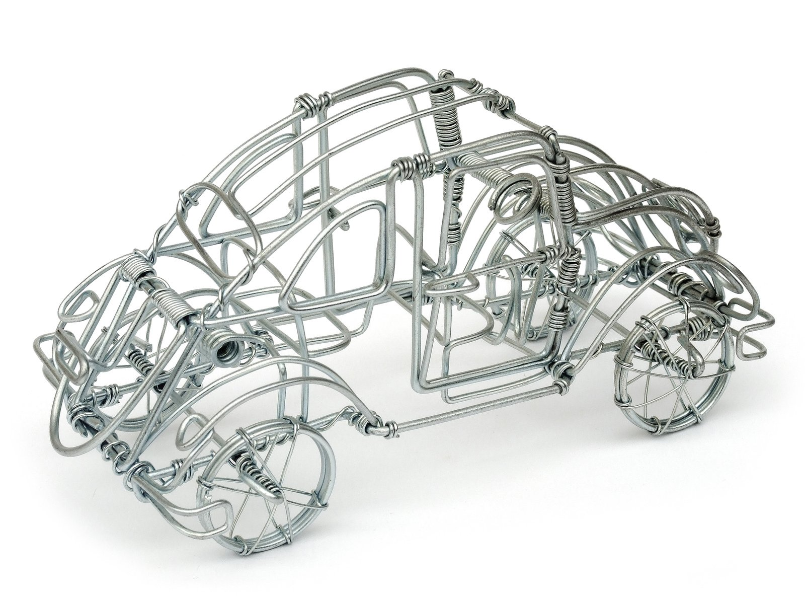 VW Beetle wire sculpture