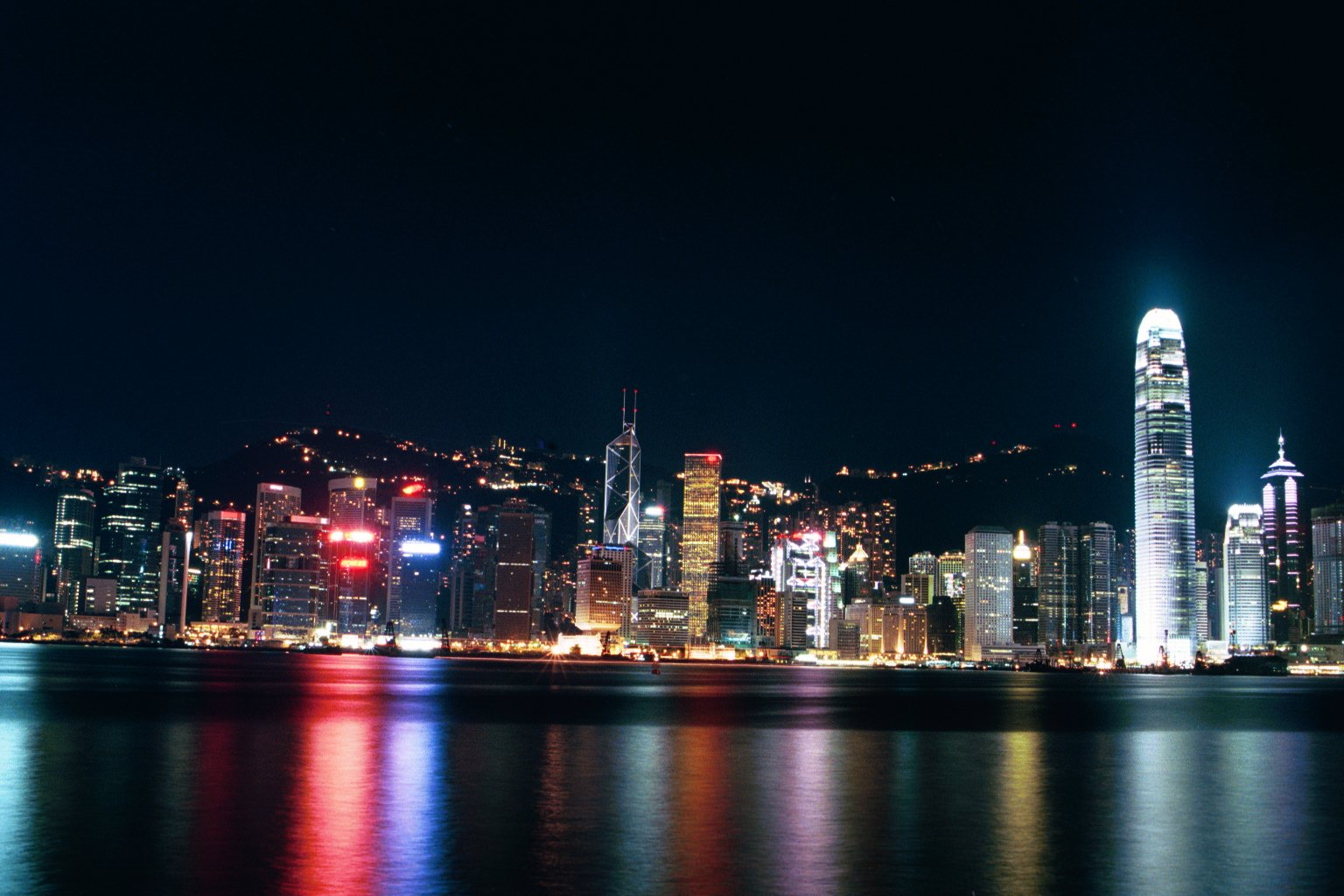 Free Hong Kong Harbour Night View Stock Photo Freeimages Com