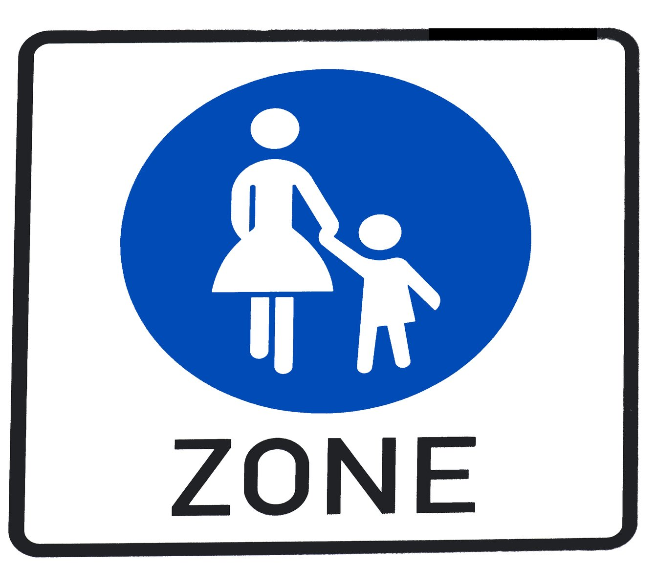 Free Pedestrian Zone Sign Stock Photo Freeimages Com