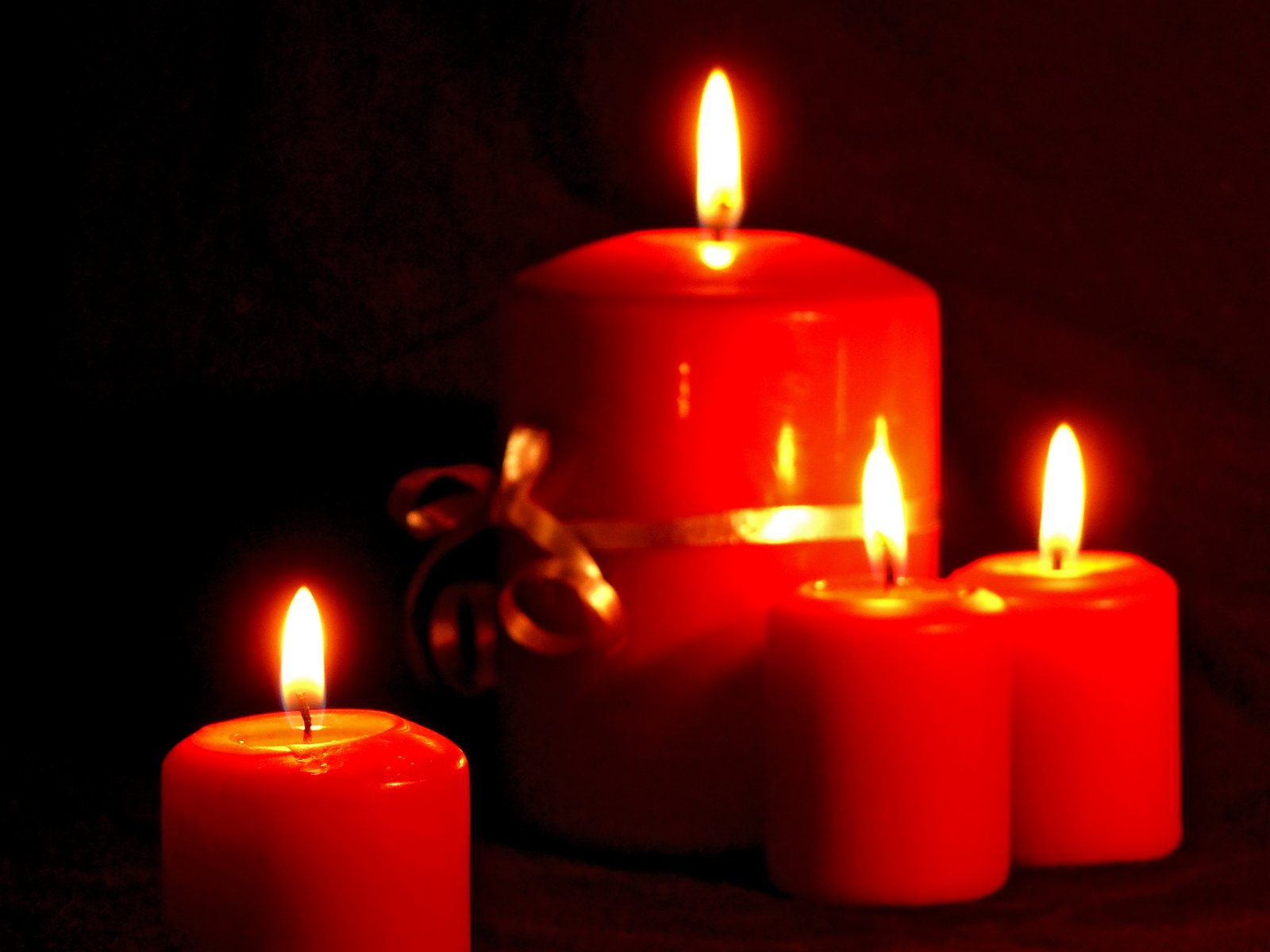 Free Christmas Candles Stock Photo