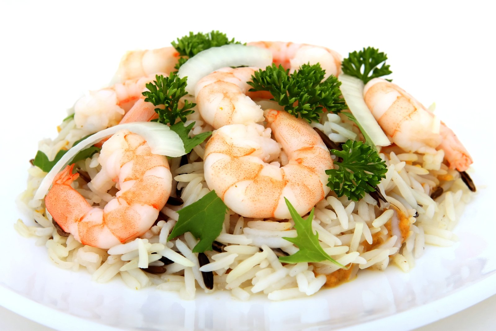 Prawn and rice salad