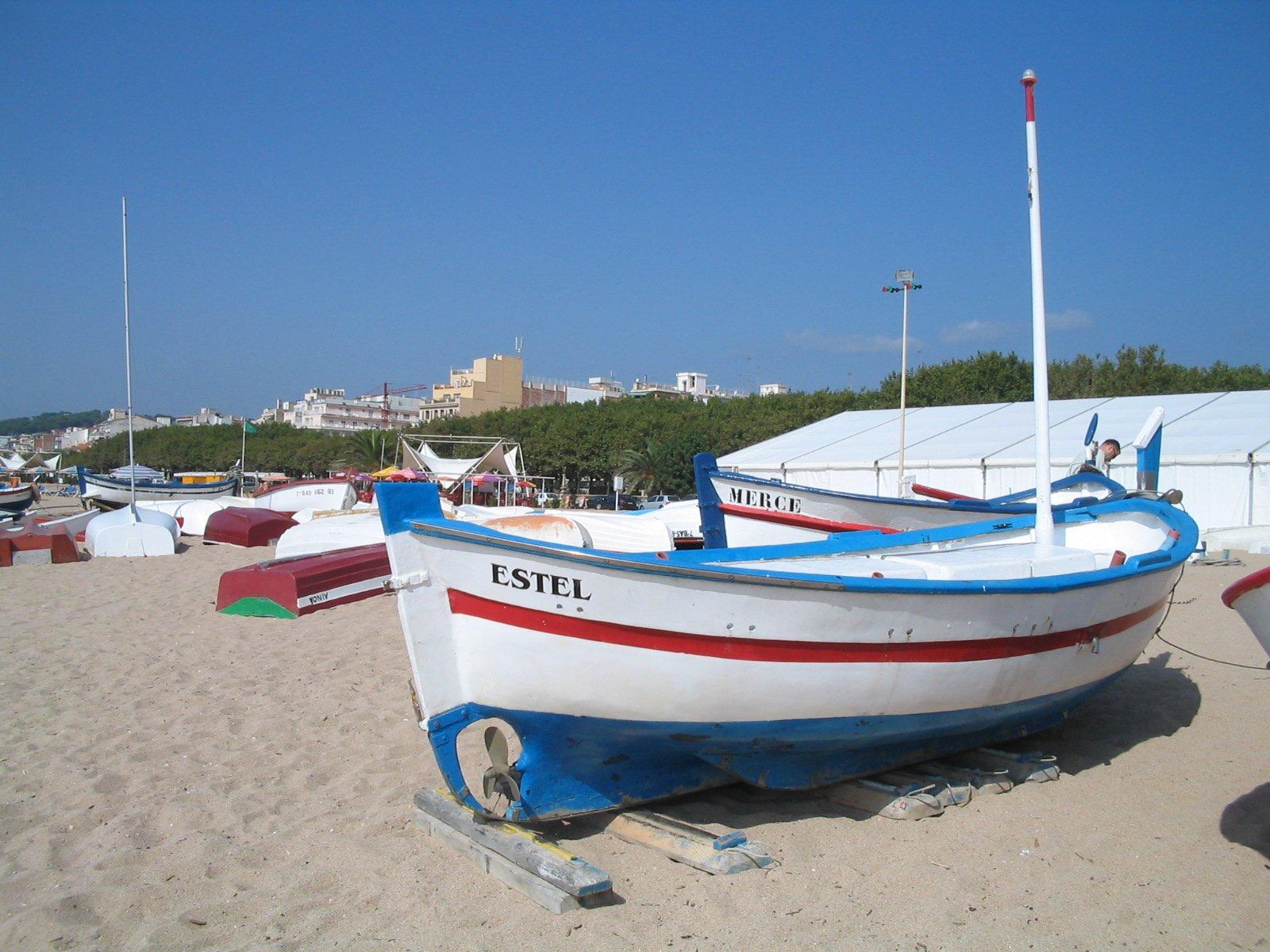 Free catalan fishing boat 2 stock photo for Free fishing boats