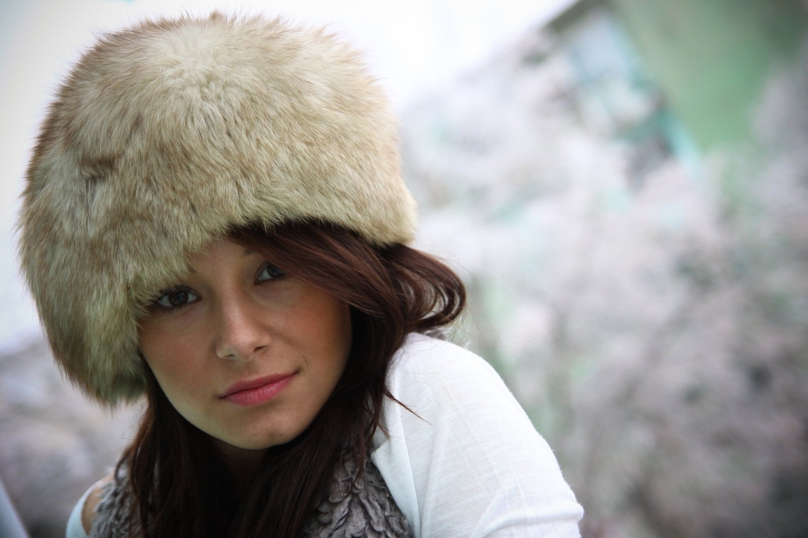 Free Girl With Fur Cap Stock Photo Freeimages Com