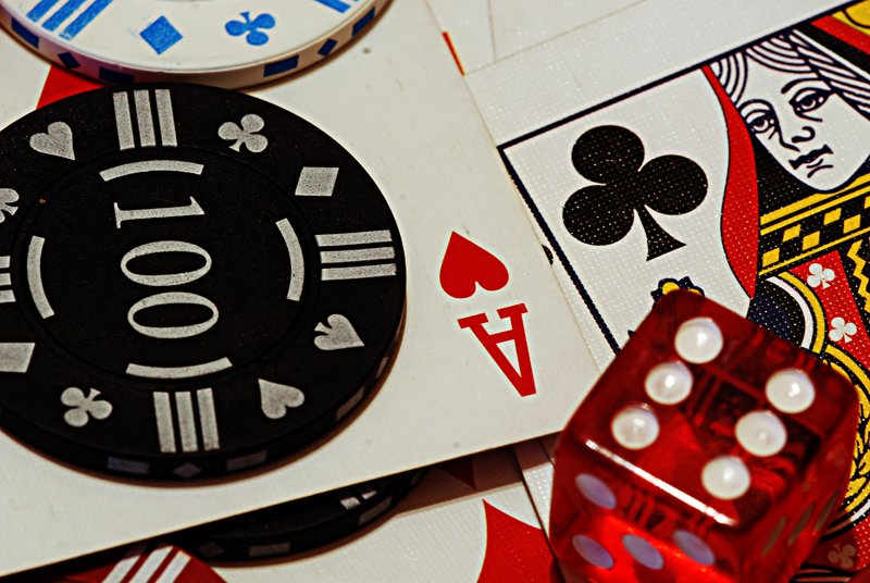 Poker chips cards and dice 5