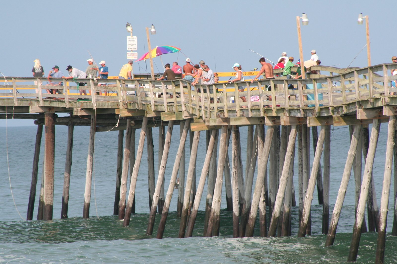 Free summer pier fishing stock photo for Seaview fishing pier