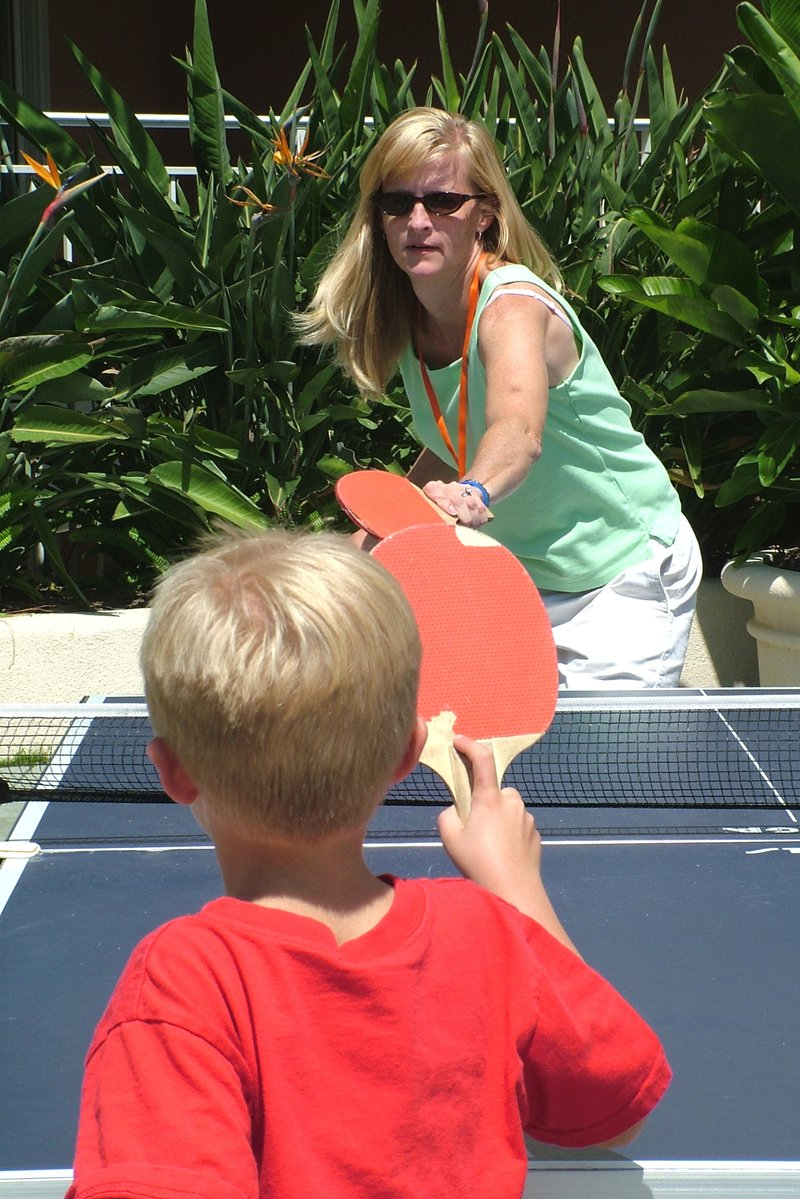 Free Mother And Son Play Ping Pong Together Stock Photo Freeimages Com