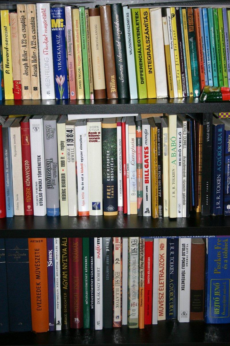 Free Bookshelf Stock Photo