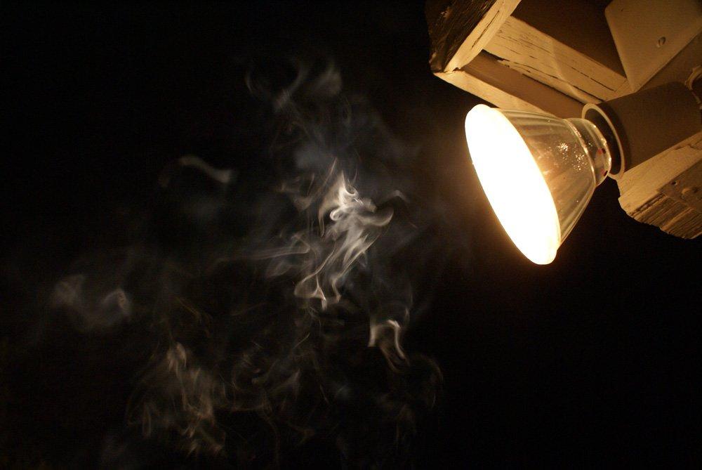 Smoke,smoke,light,night