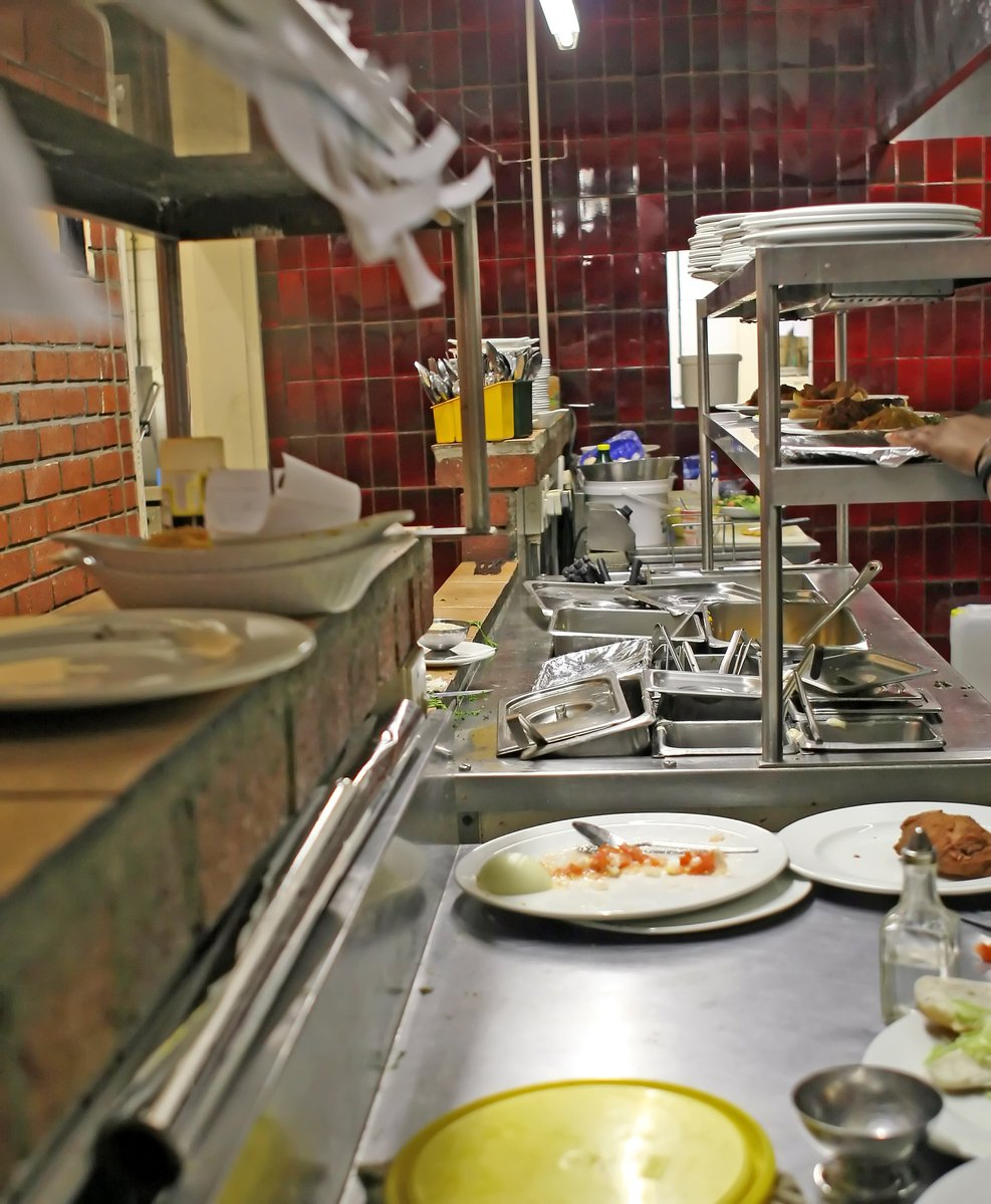 Free Restaurant Kitchen With Orders And Food Preparation