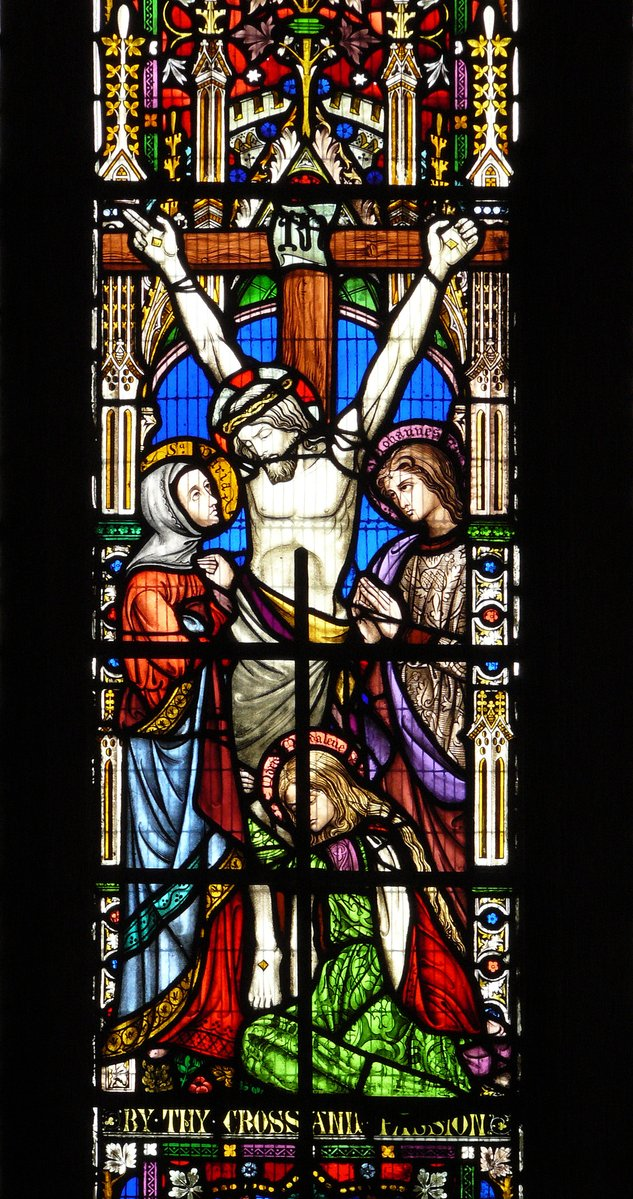 Jesus Crucifixion stained glass