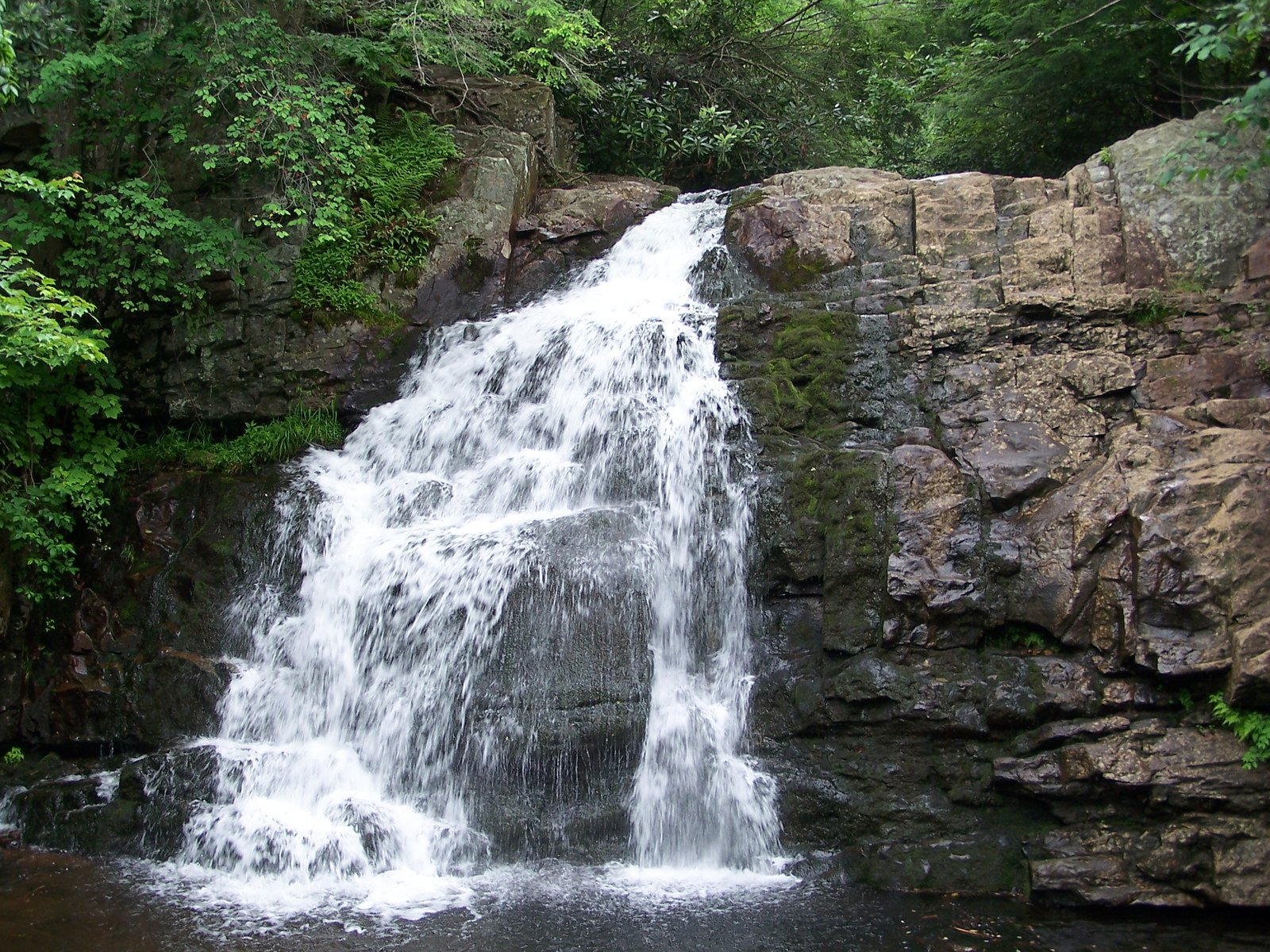 Free Waterfall In Pennsylvania Stock Photo