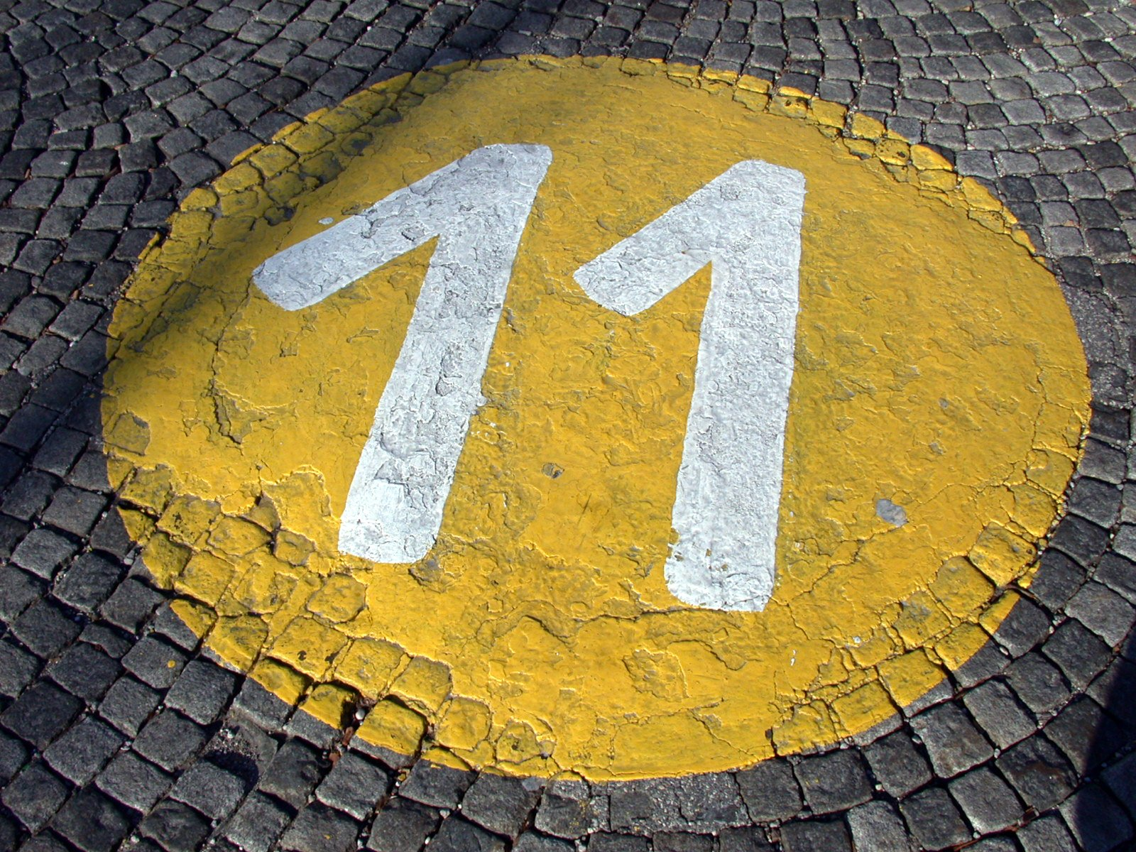 Free bus stop number 11 Stock Photo - FreeImages.com