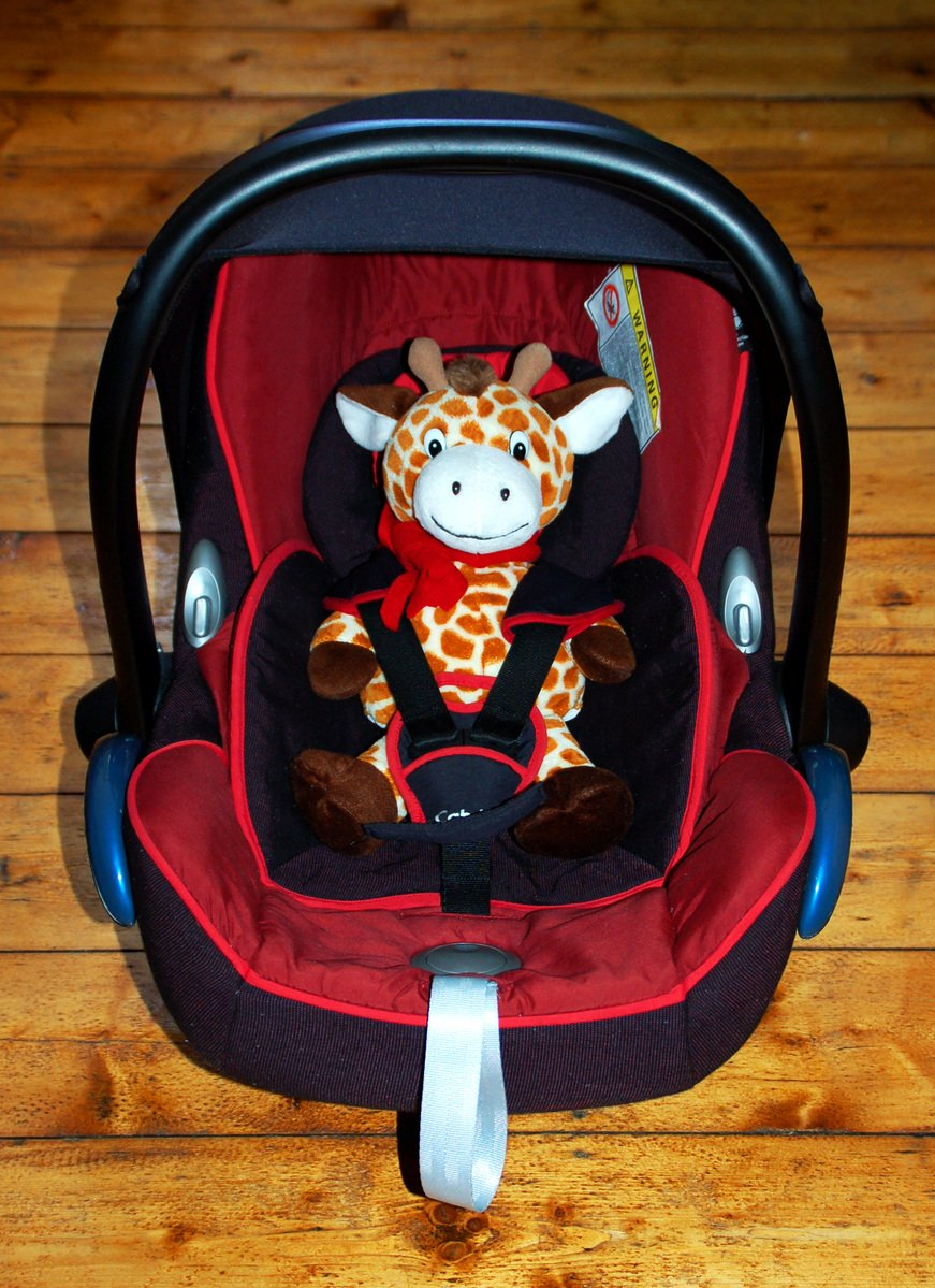 Stuffed Animal Giraffe in Baby Seat