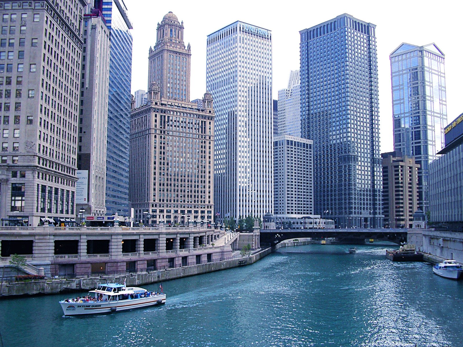Free Chicago And River Stock Photo