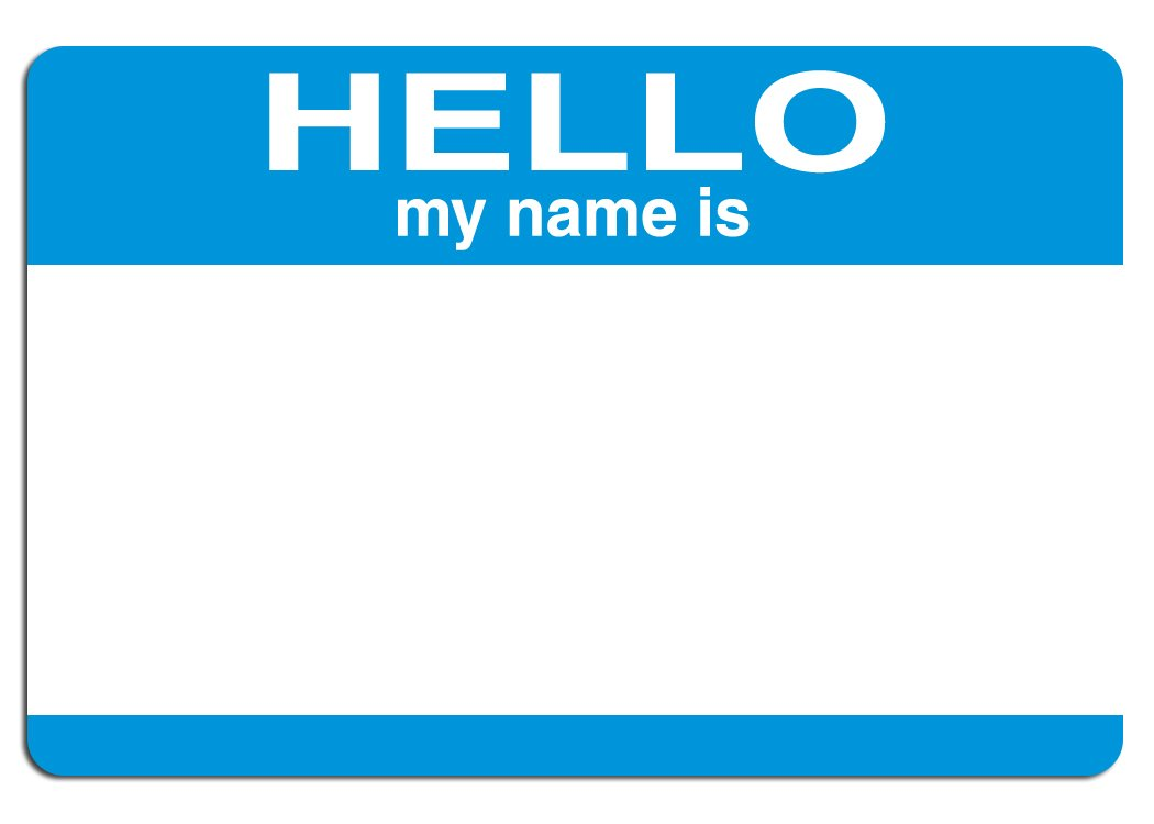 Hello My Name Is: Free Hello My Name Is Stock Photo