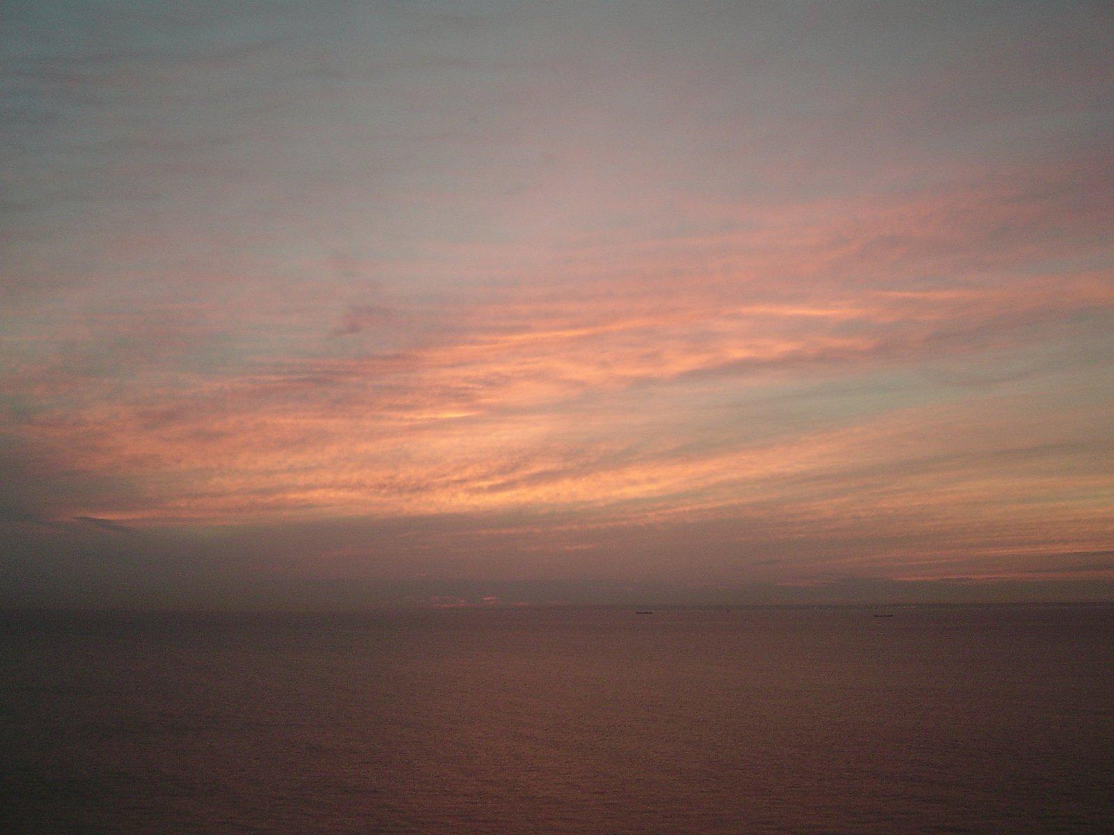 Free Zonsondergang Frankrijk Engels Kanaal Stock Photo