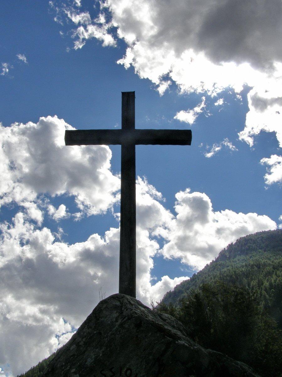 Free Cross In The Sky Stock Photo