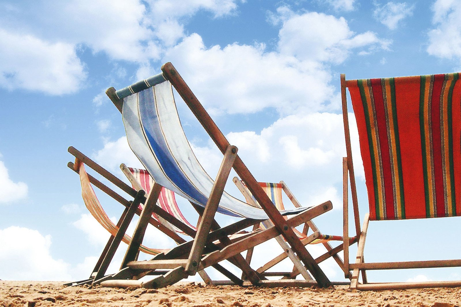 Free 5 Deck Chairs Stock Photo Freeimages Com