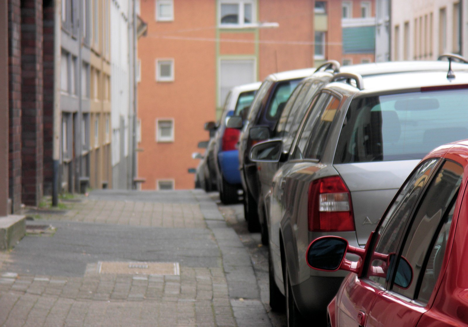 Cars Parked in Street