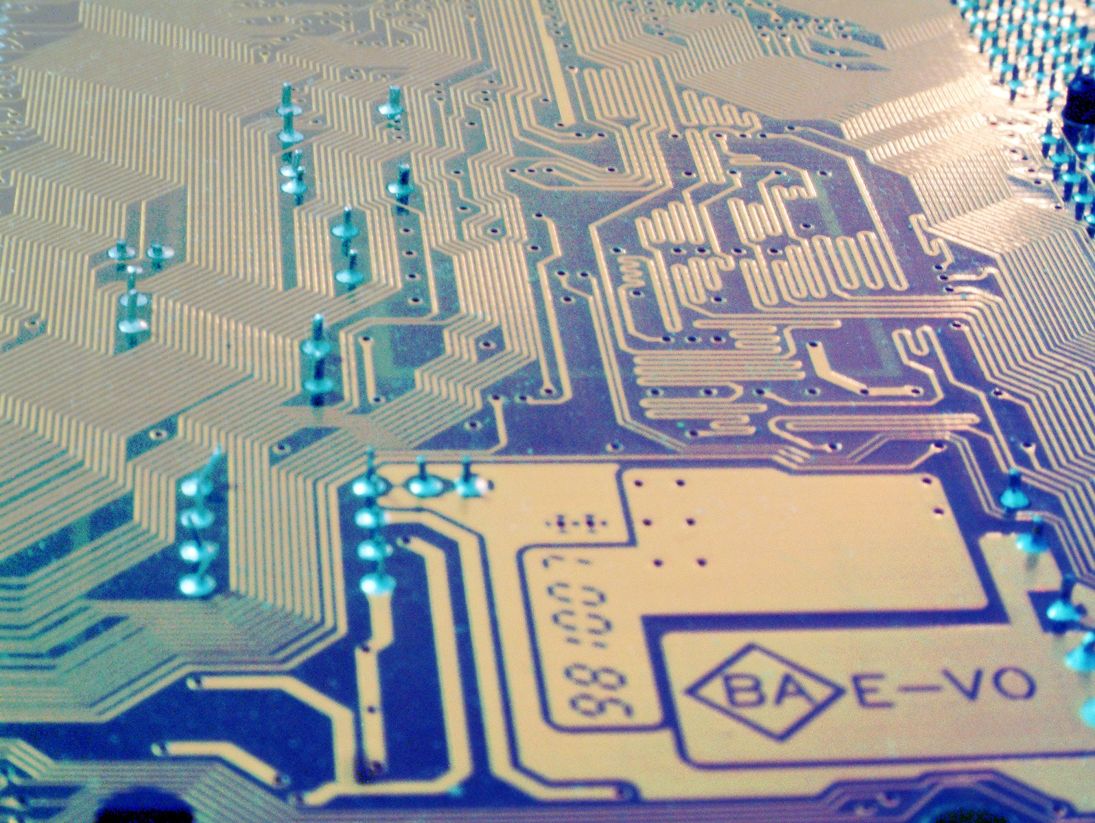 motherboard circuit colored