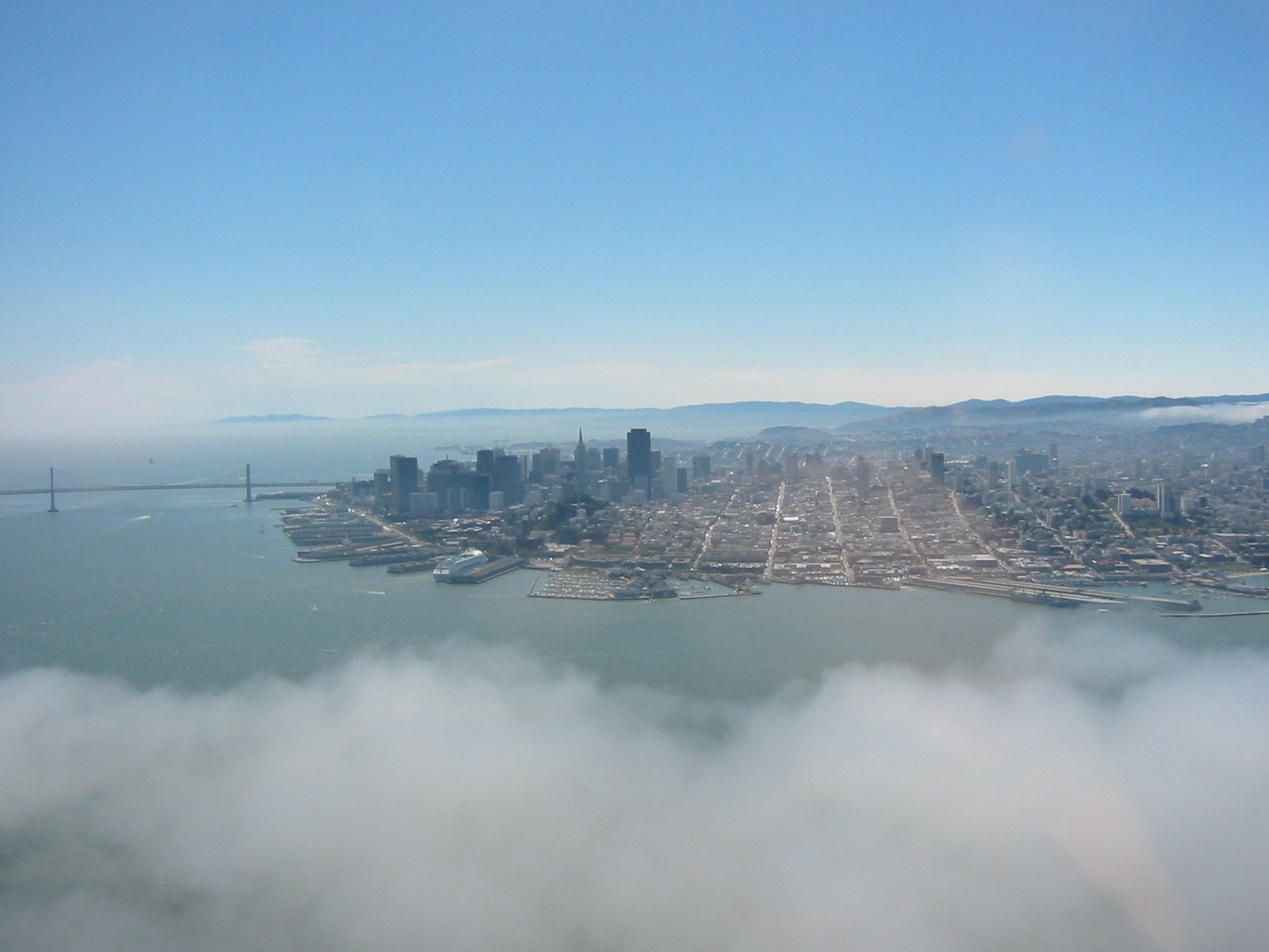 free san francisco from the air 2 stock photo. Black Bedroom Furniture Sets. Home Design Ideas