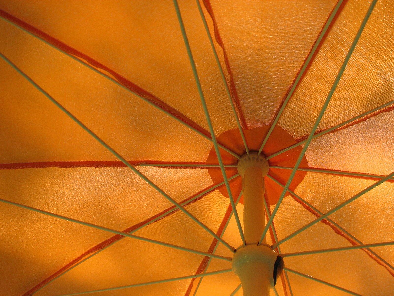 guarda-chuva, férias, laranja, verão