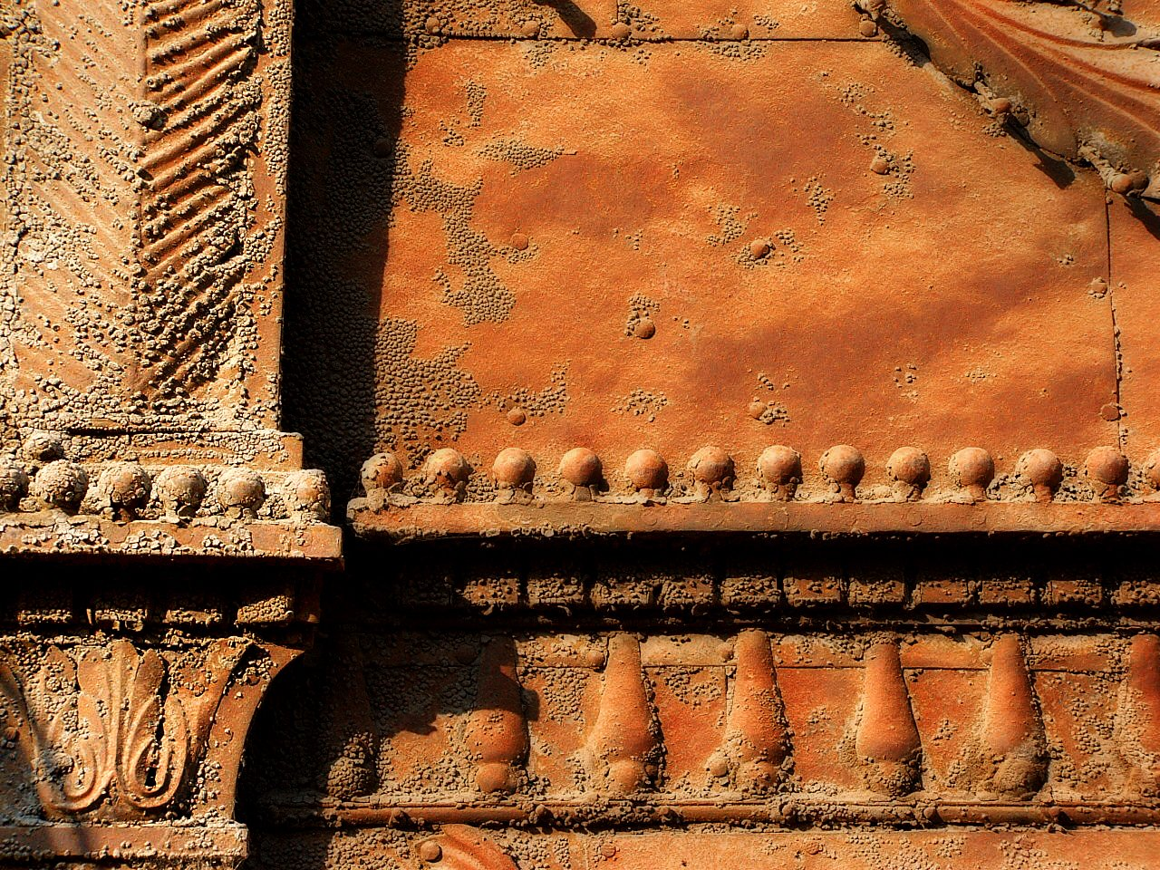 rust covered artistic relief