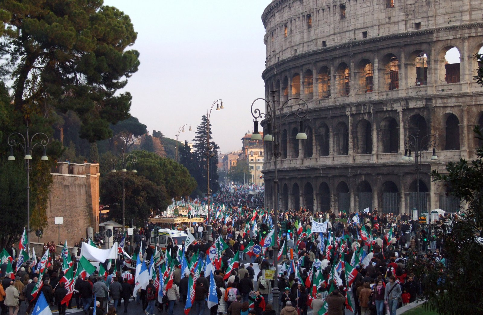 Near Colosseum Stock Photo