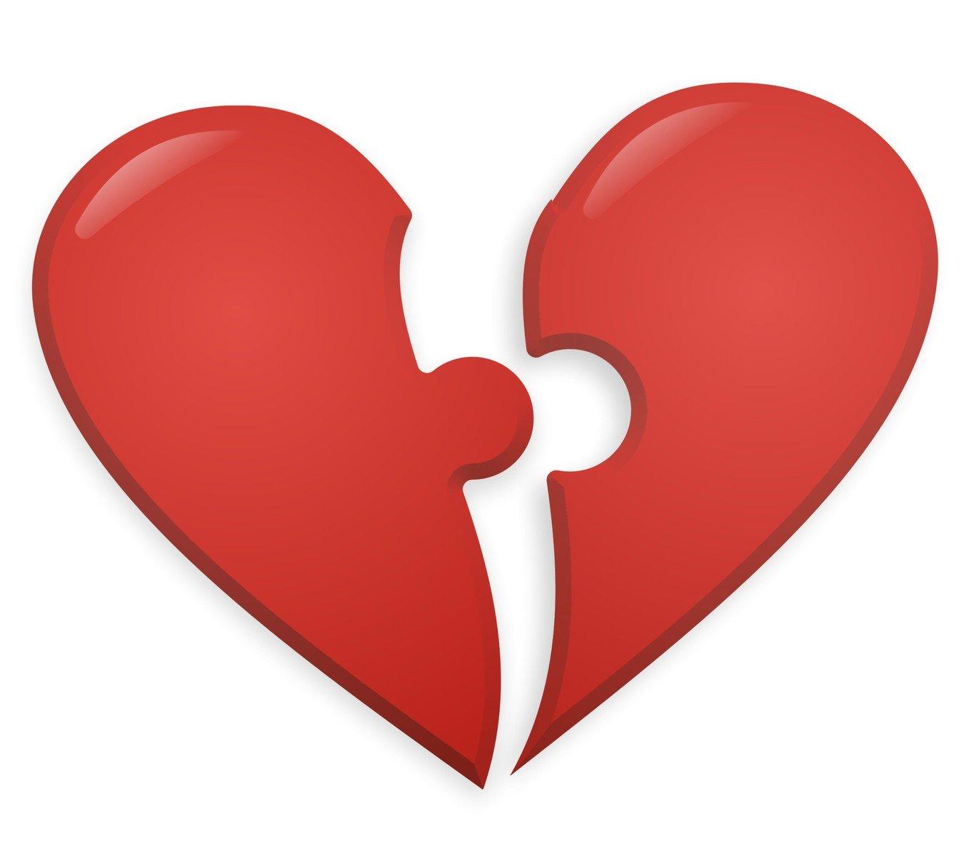 Картинки две половинки сердечка