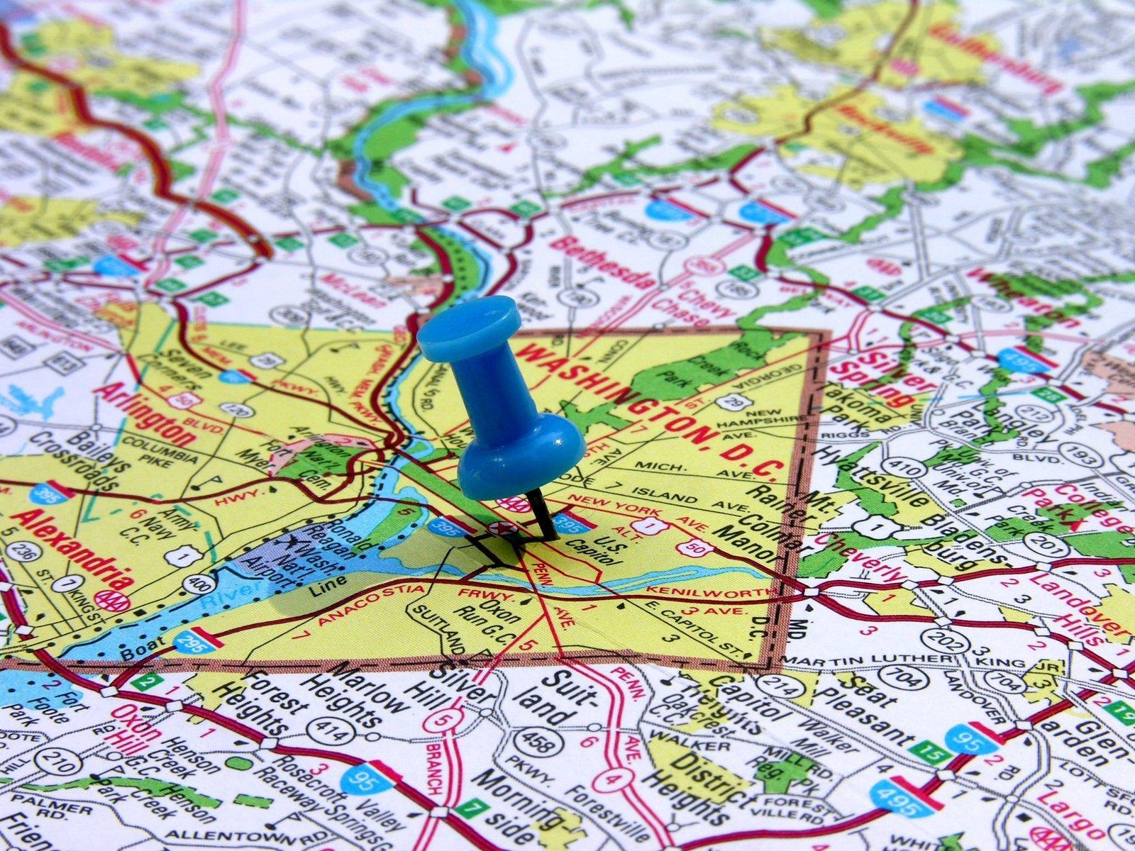 Washington DC on the map 1