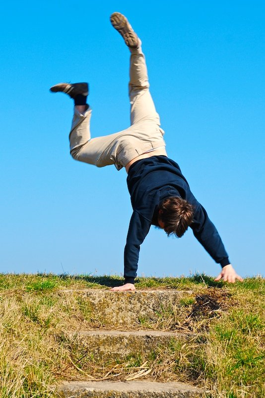free will walk on my hands stock photo freeimagescom