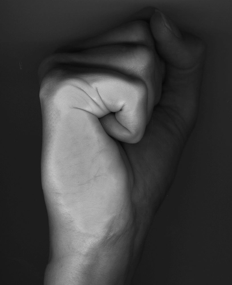 Hand,Fist,Curled,Fingers
