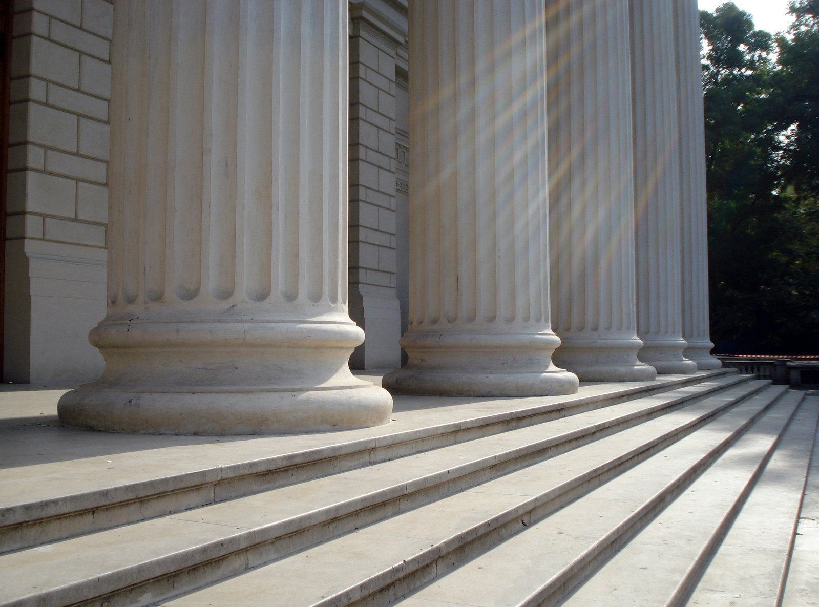 Columns outside courthouse