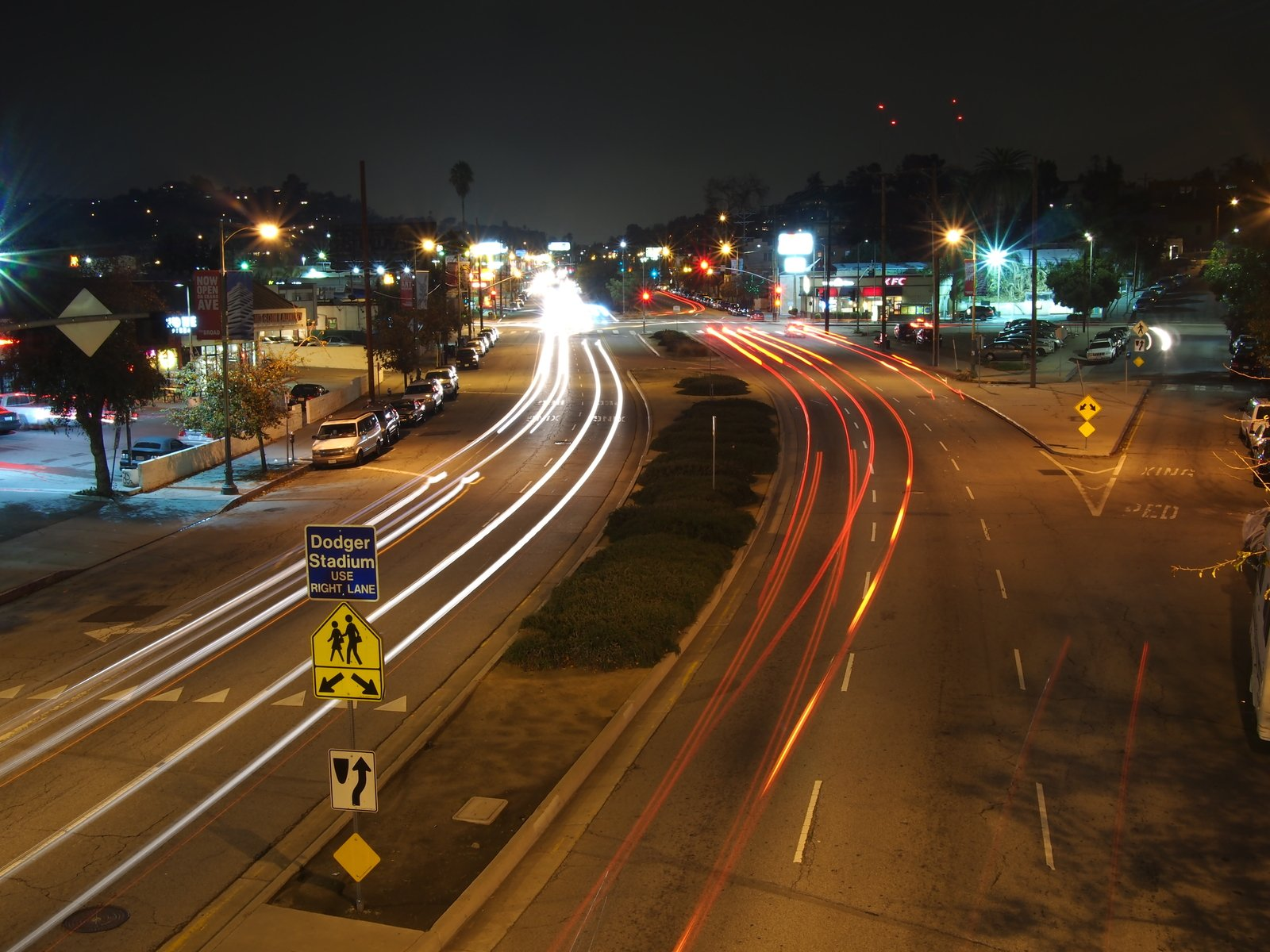 Free Los Angeles Street Long Exposure Stock Photo