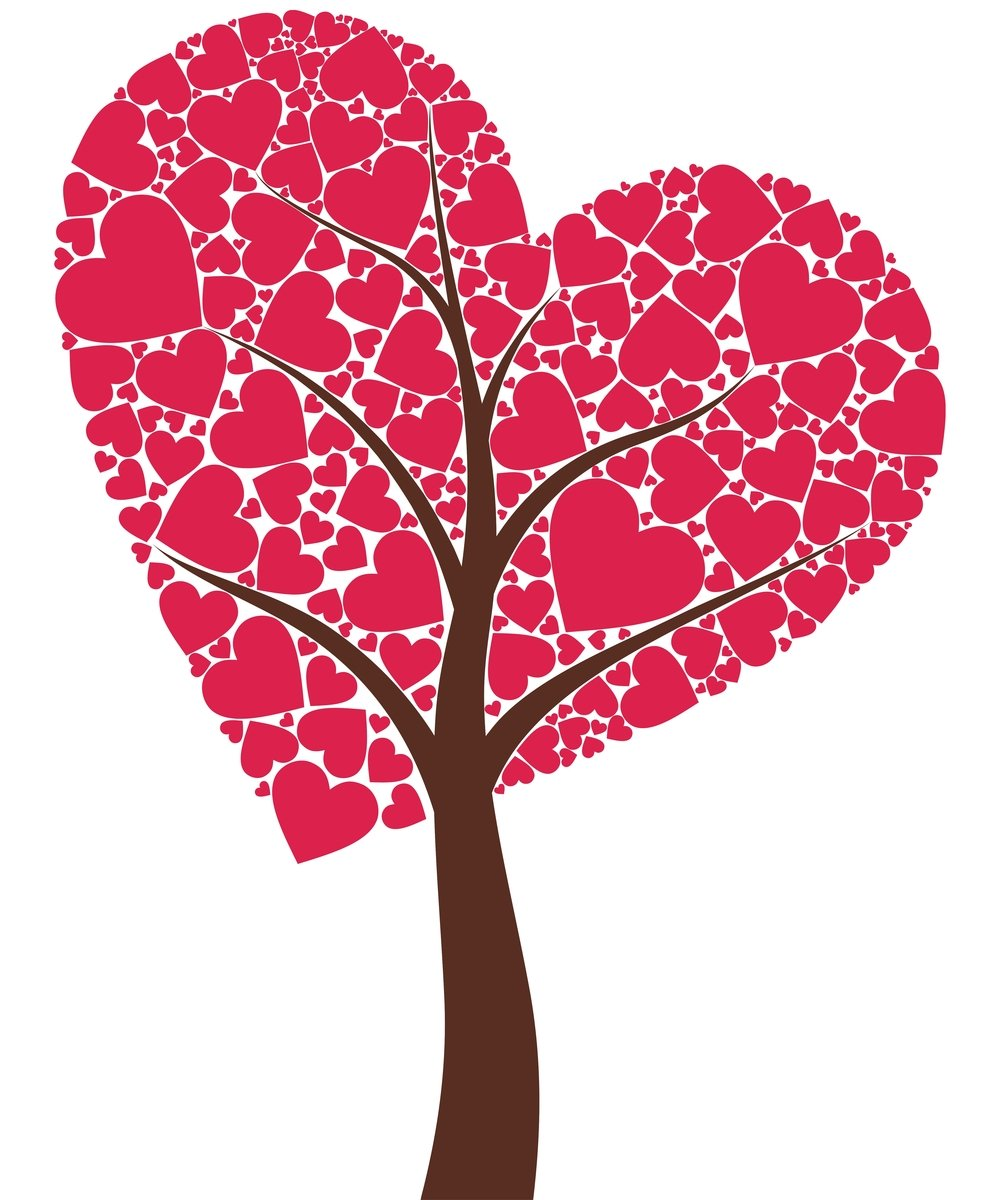 картинка дерева с сердечками новая