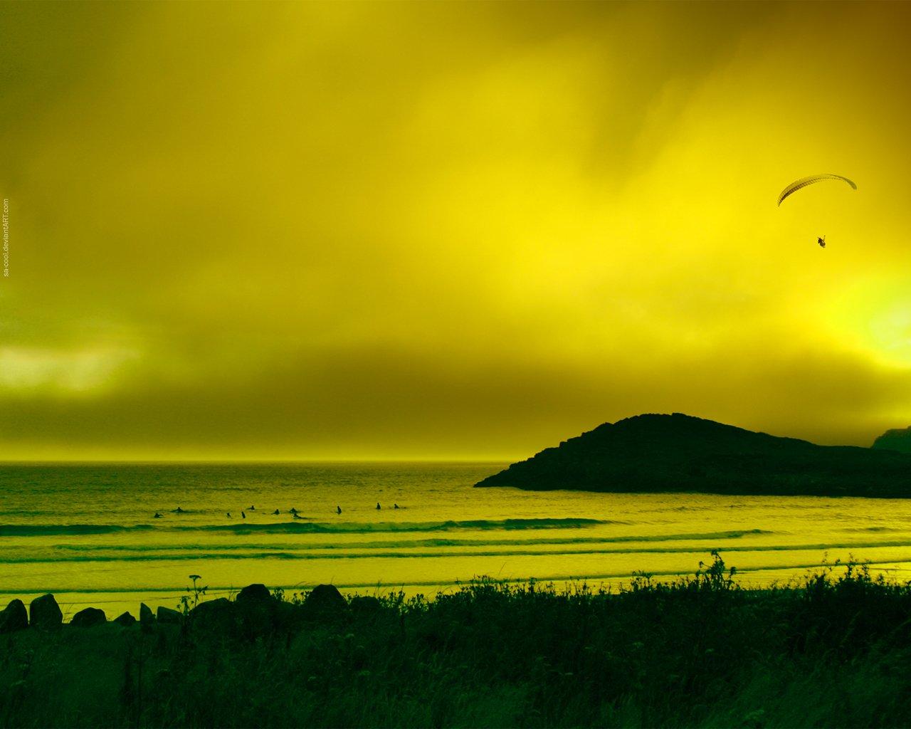Желтый закат бесплатно
