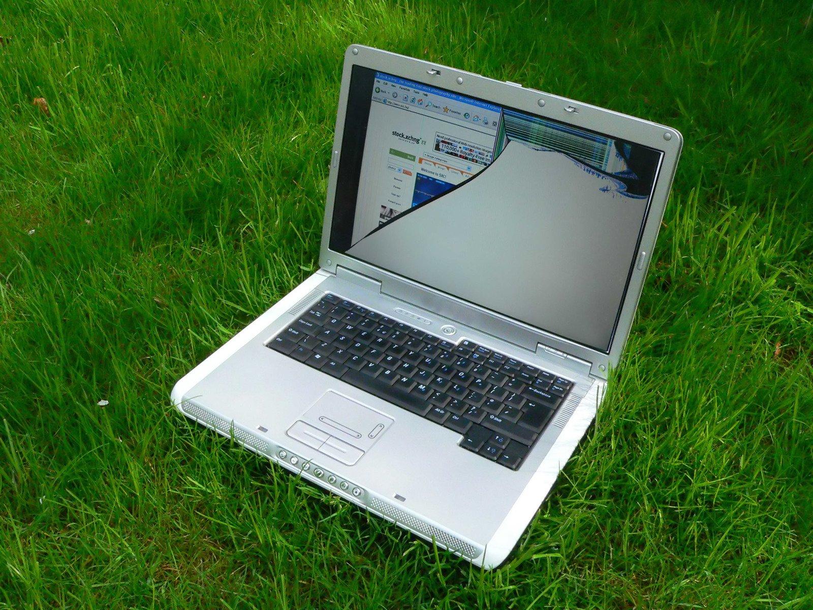 Computer portatile, Notebook, Lcd, rotto, schermo, rotto, rotto, rotto, schermo, demolito, Computer, telelavoratore, disastro, lavoro, male, giorno