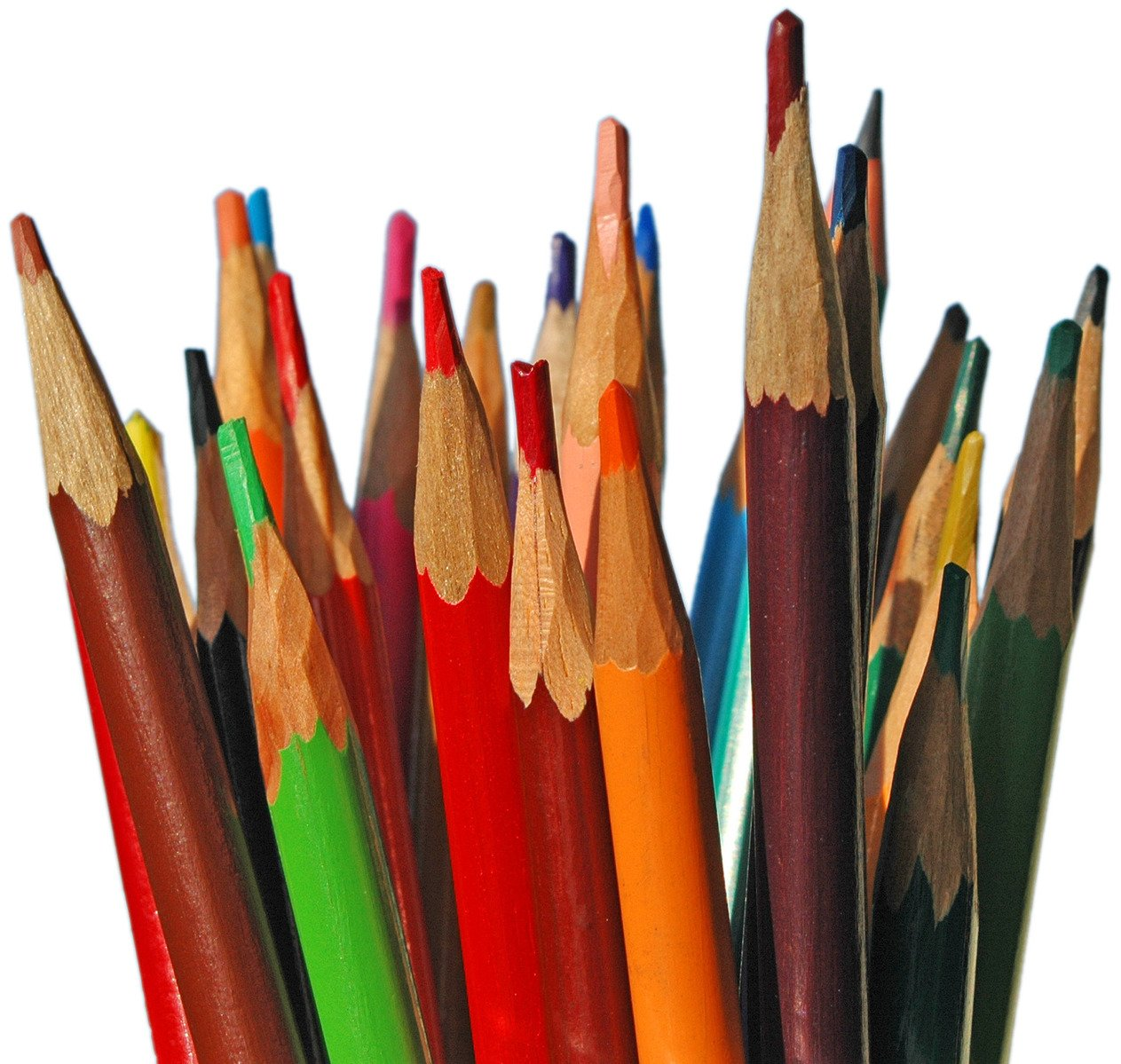 Assorted-color Colored Pencils · Free Stock Photo