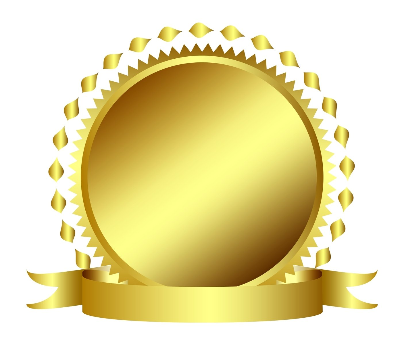 Free Gold Seal Stamp Or Medal With Banner Stock Photo