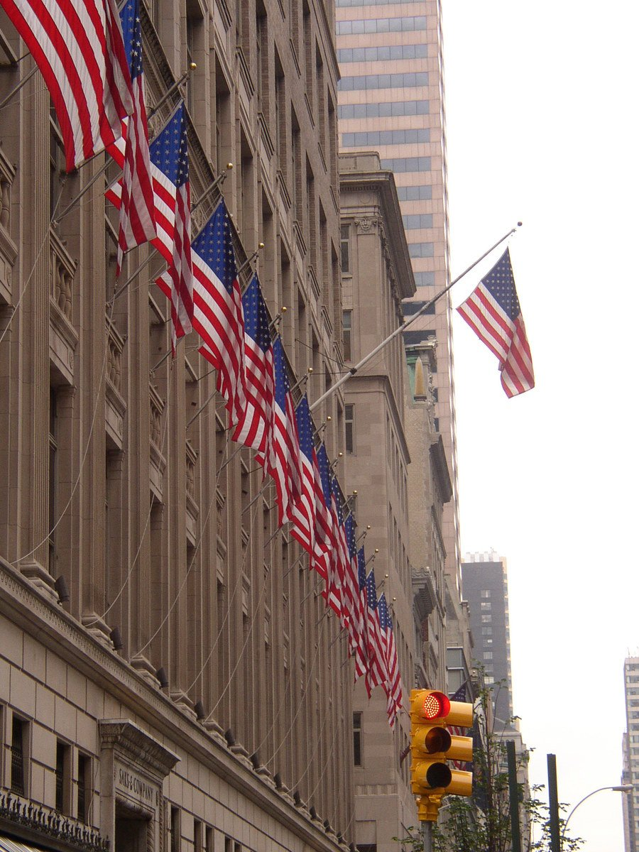 Free American Flags In New York Stock Photo Freeimages Com