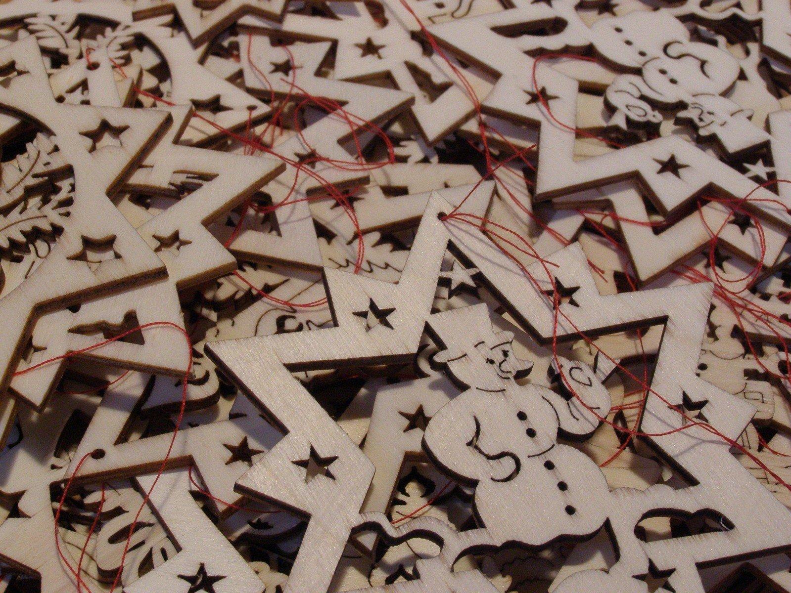 Free Weihnachtsdekoration Aus Holz Stock Photo