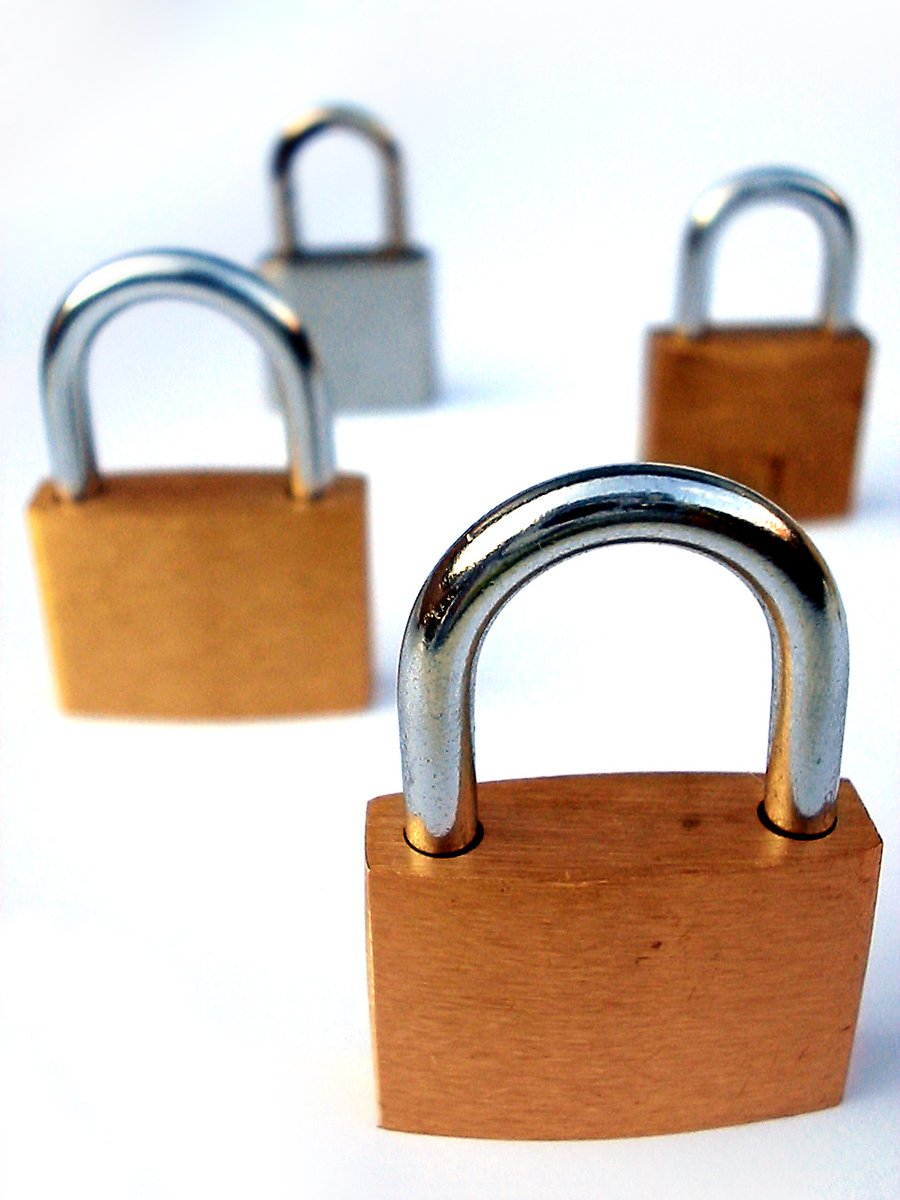 4 padlocks (locked)